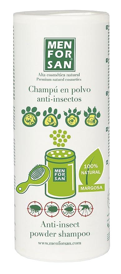 MENFORSAN 54144MFP071 Champú en Polvo con Repelente de Insectos - Perros, Gatos, Roedores Y Hurones 250 Grs, Un tamaño