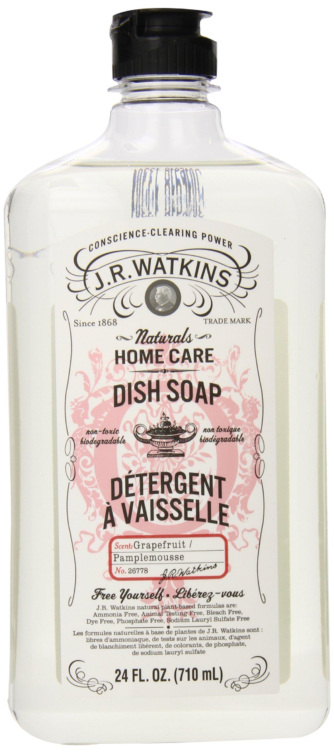 J.R. Watkins Liquid Dish Soap, Grapefruit, 24 ounce (Pack of 6)