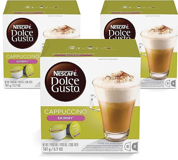 Nescafé Dolce Gusto - Cappuccino Light - 3 Paquetes de 16 Cápsulas ...