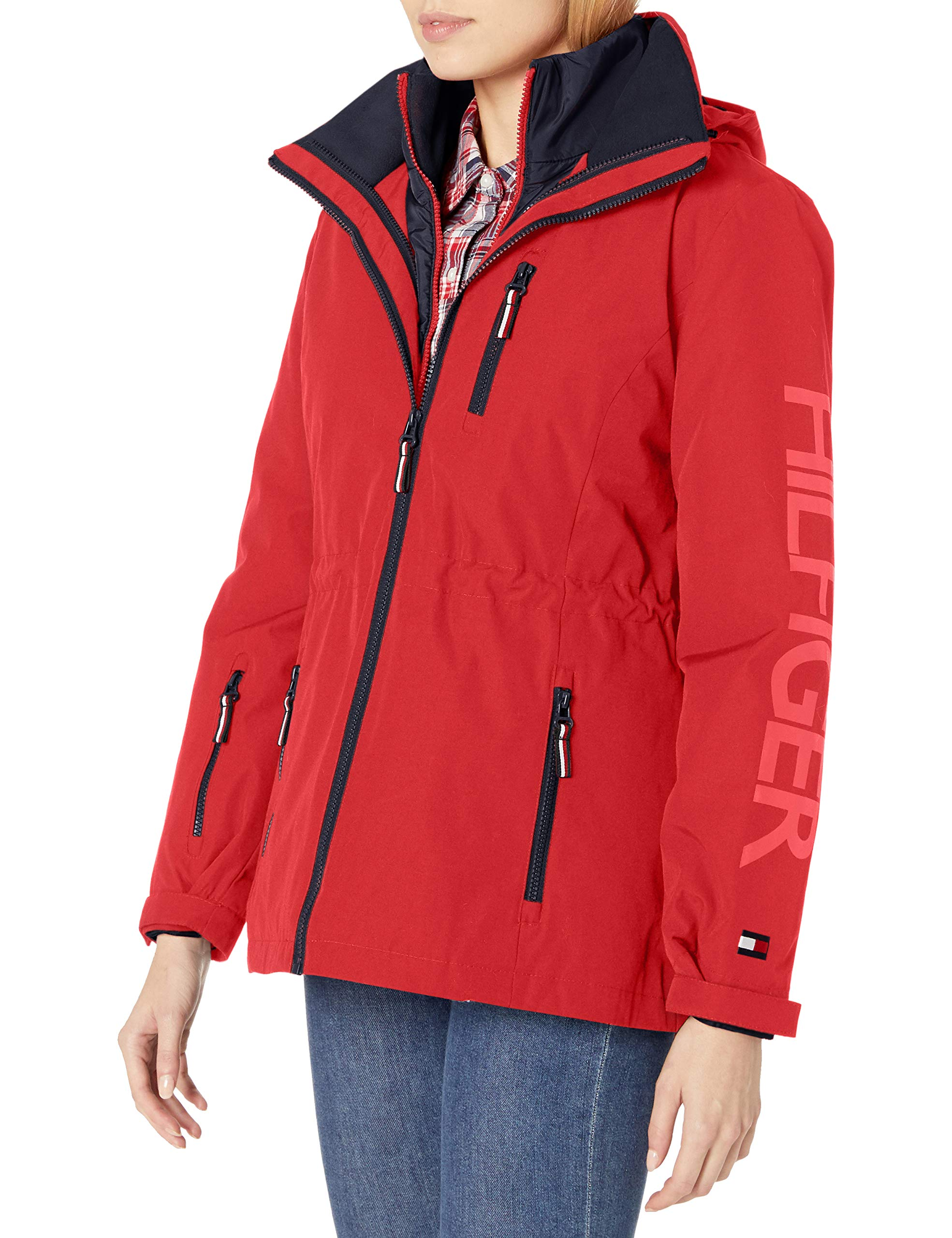 Tommy Hilfiger Women's 3 in 1 Systems Jacket, Fire, M by Tommy Hilfiger