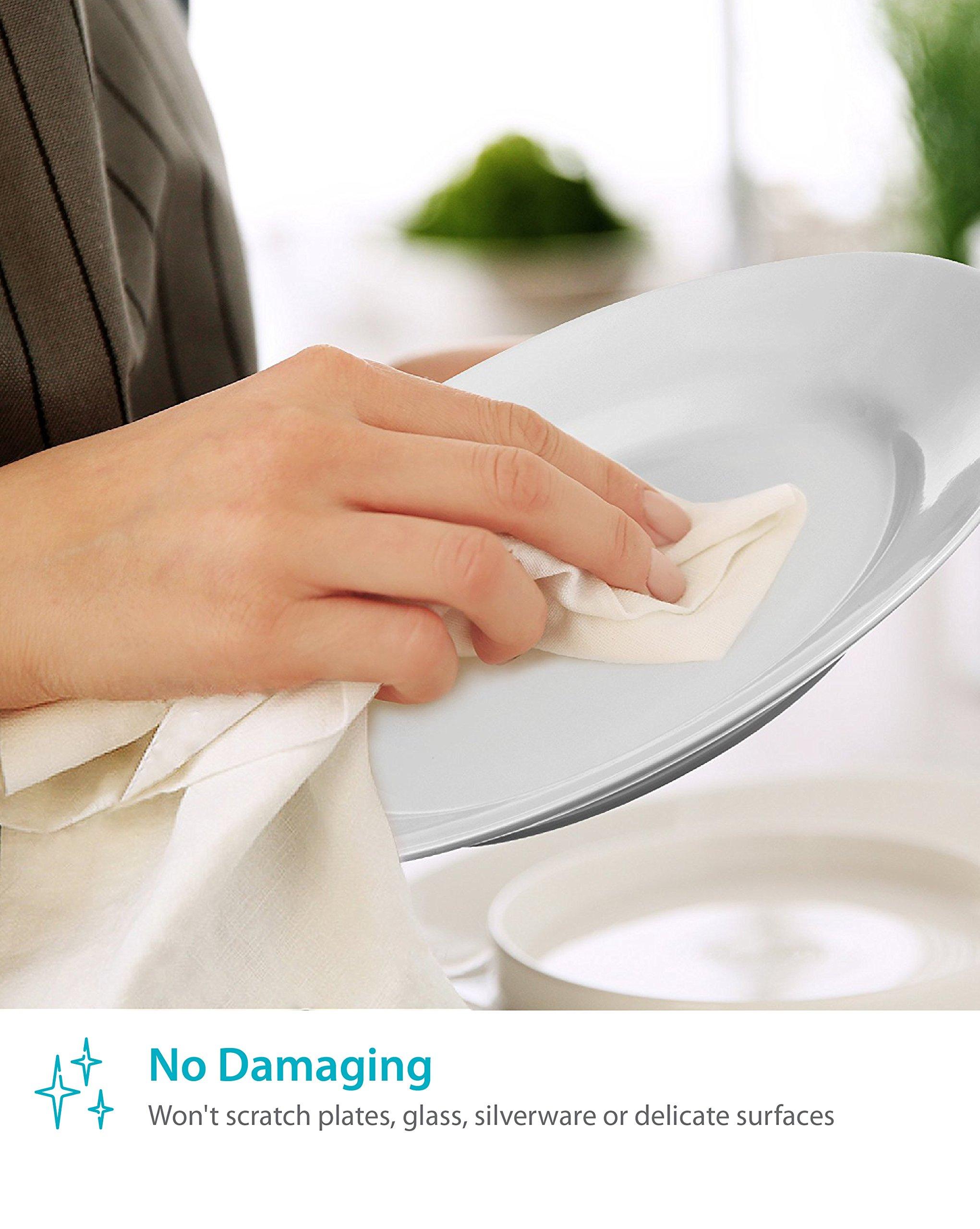Zeppoli 12-Pack Flour Sack Towels - 31'' x 31'' Kitchen Towels - Absorbent White Dish Towels - 100% Ring Spun Cotton Bar Towels by Zeppoli (Image #4)