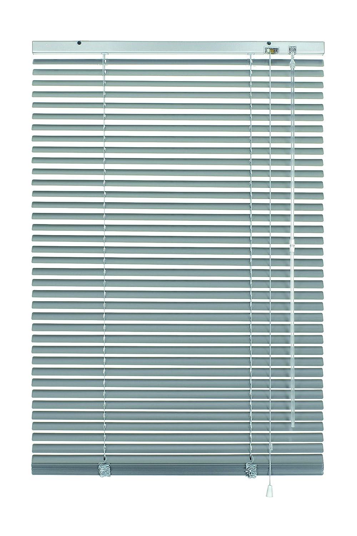 Gardinia Veneziane in Alluminio, visibilità, Protezione dalla Luce e ai Raggi solari, Fissaggio al Muro e al plafone, Kit di Montaggio Incluso, Veneziane in Alluminio, Argento, 140 x 140 cm (LxA) 33839
