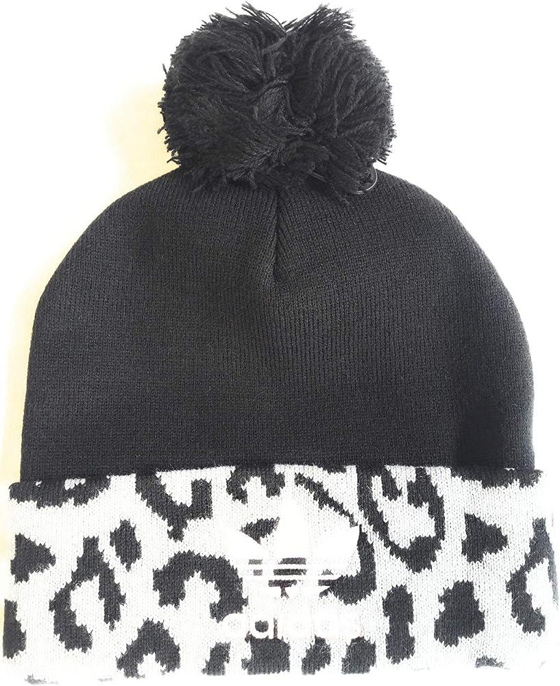 adidas Pom Pom - Gorro de Punto para Mujer, diseño de Leopardo ...