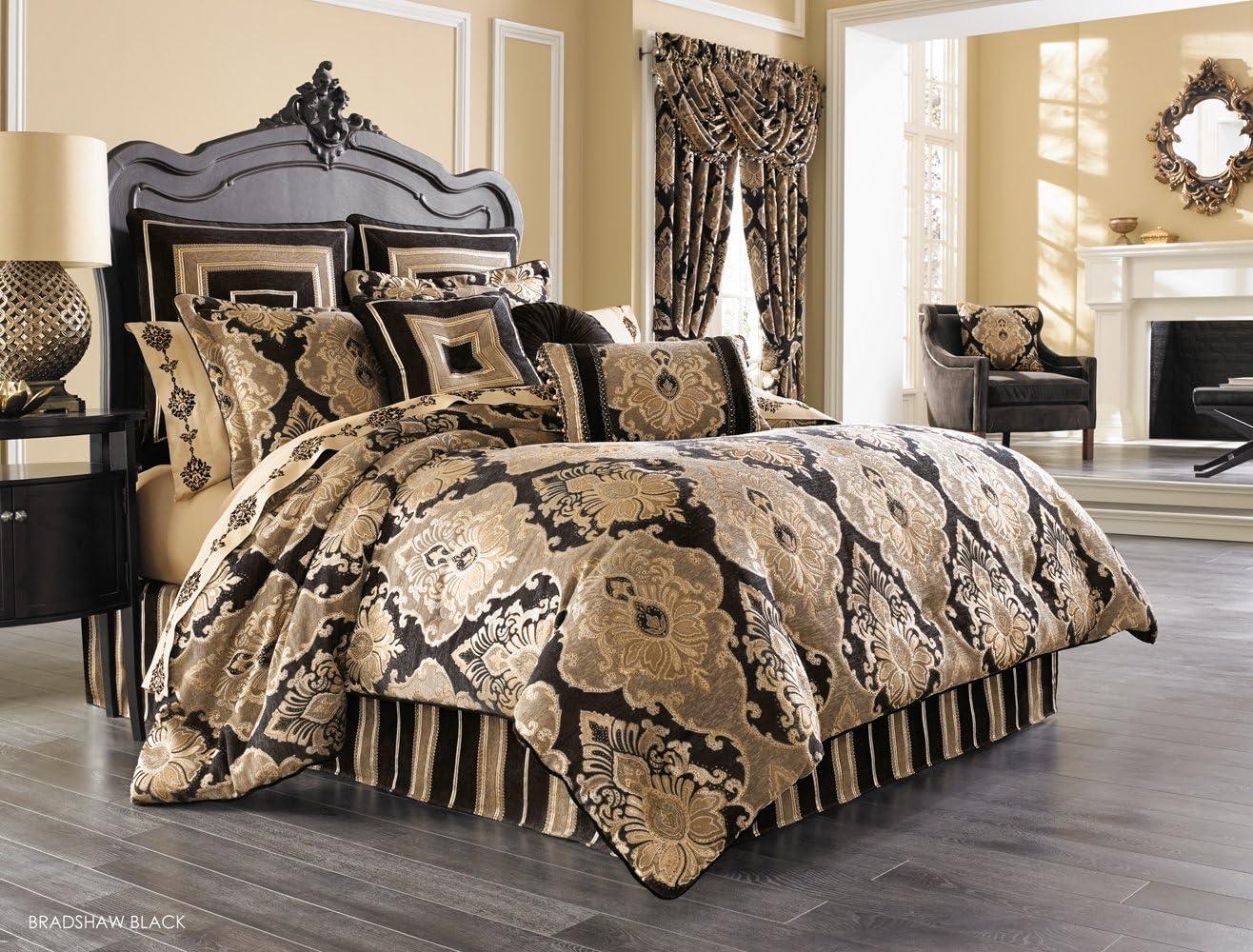 Amazon Com Jqueen Bradshaw Black Cal King Comforter Set Home