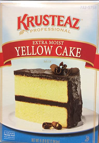 Krusteaz Extra Moist YELLOW CAKE Mix 72oz. (4-Pack)