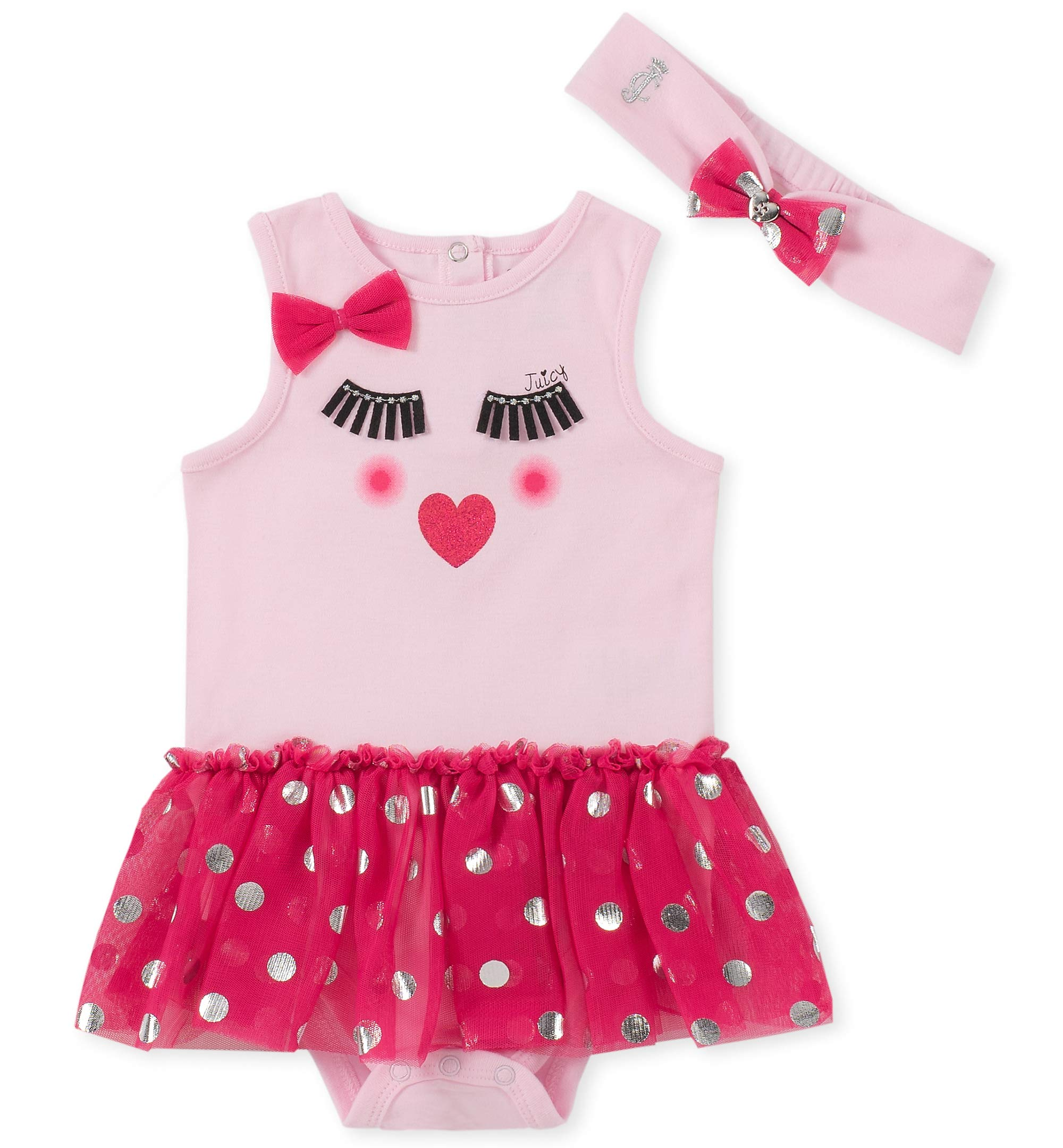Juicy Couture Baby Girls Tutu Bodysuit