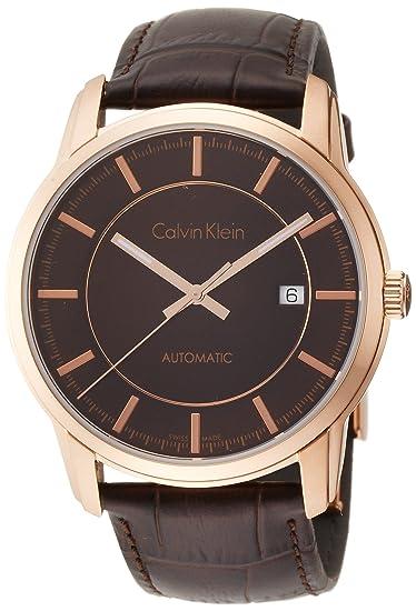 Calvin Klein Reloj Analogico para Hombre de Automático con Correa en Cuero K5S346GK: Amazon.es: Relojes