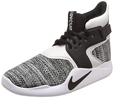 separation shoes 9c198 3ef68 Nike Men s Incursion Mid SE Basketball Shoes, Black Black-White 9