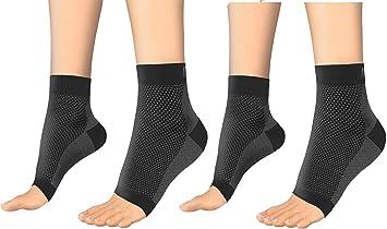 2 pares unisex – Calcetines de compresión – Best Terapia de Alivio del Dolor para la