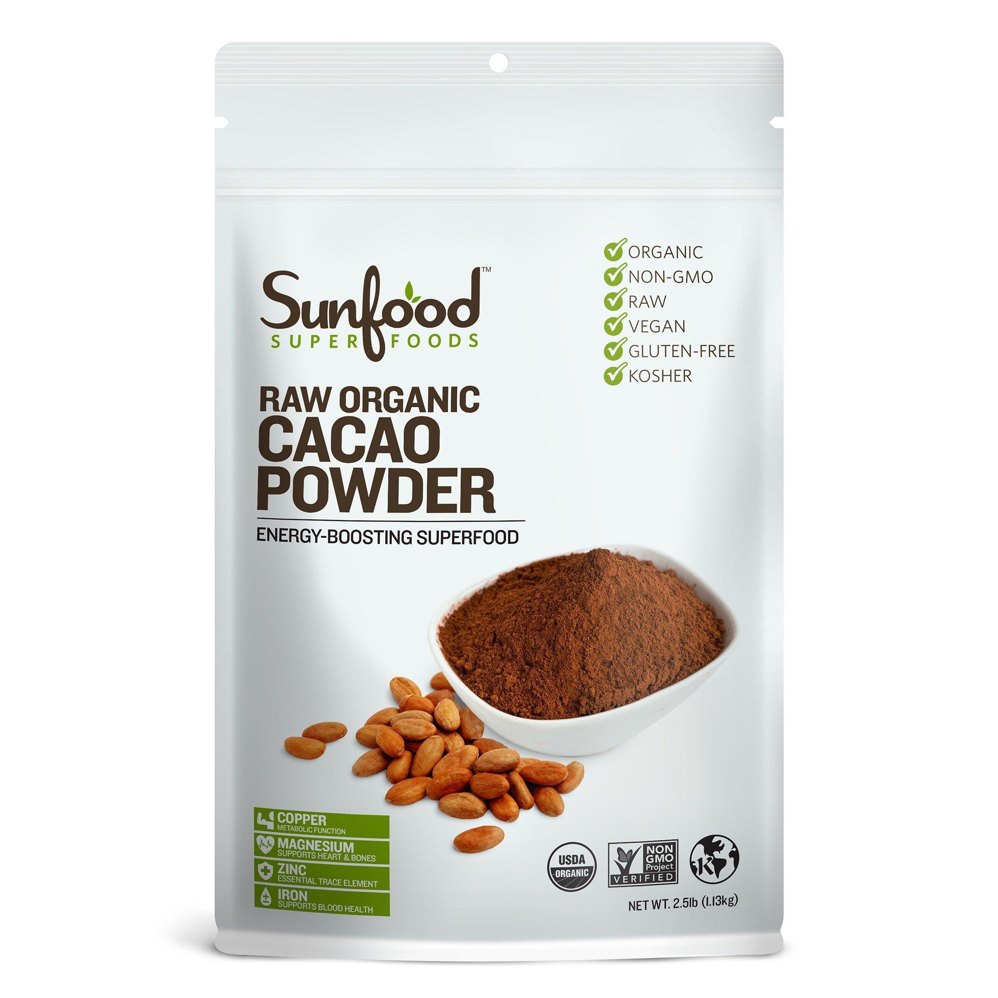 Sunfood Cacao Powder, 2.5 Pounds, Organic