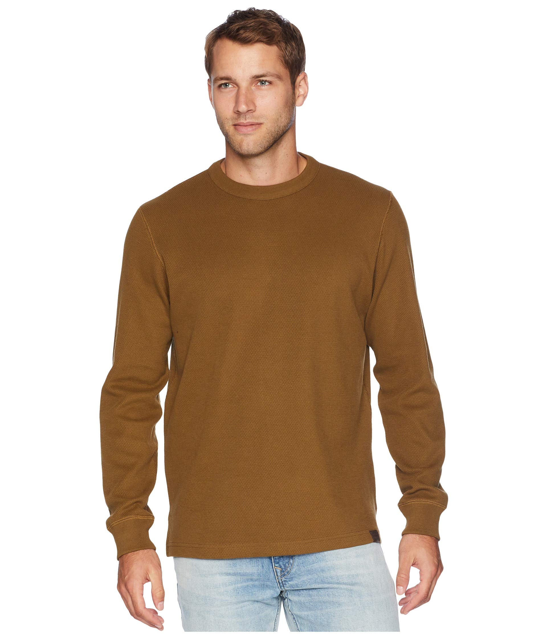 Filson Men's Waffle Knit Thermal Crew Neck Olive Large by Filson