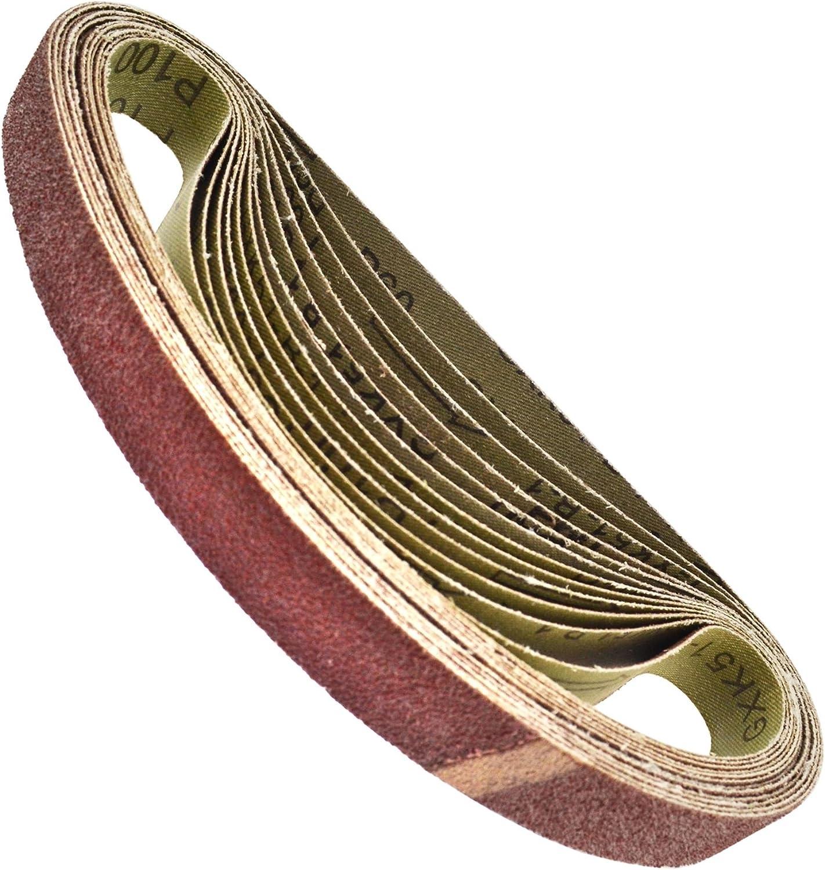 Aire Dedo Sander bandas lijadoras Grinder madera 520 x 20mm 25 PACK AU021: Amazon.es: Bricolaje y herramientas