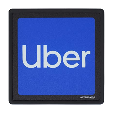 Wireless Bright LED Lights Make Your Car Visible Rideshare Drivers Rideshare LED Sign UL 2019W Ride Share Accessories Removable USB Rechargeable Lithium Ion Battery