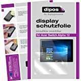 dipos Acer Switch Alpha 12 Schutzfolie (2 Stück) - kristallklare Premium Folie Crystalclear