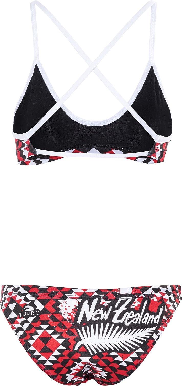 Turbo New Zealand Bikini rojo/negro 2017 Bikini mujer, rojo/negro, extra-large: Amazon.es: Deportes y aire libre