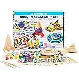 Kid Made Modern Wooden Spaceship Kit - Kids Arts and Crafts Toys