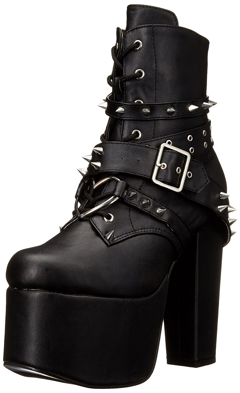 Demonia Women's TOR700/BVL Boot B015WMAXLG 8 B(M) US|Black Vegan Leather