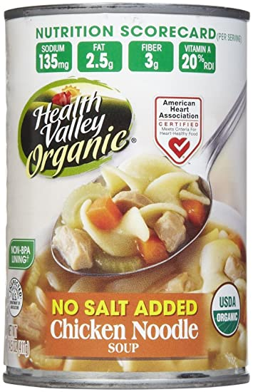 Amazon com : Health Valley Organic Chicken Noodle Soup, No Salt, 15