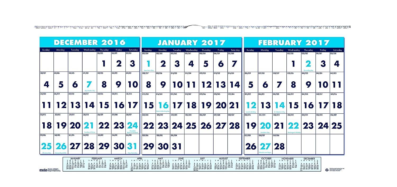 Umd Calendar Fall 2020.House Of Doolittle 2017 Wall Calendar Three Month Horizontal 17 X 8 Hod3647 17