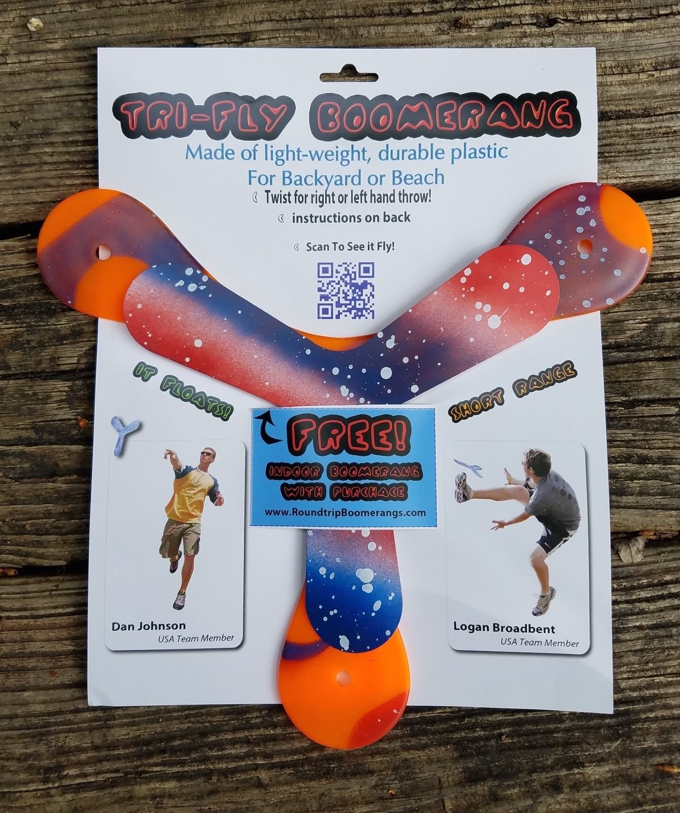TOP Satisfied Tri-Fly Boomerang on Dude Perfect + bonus indoor boomerang Frisbees Boomerangs by AmaGuardYou