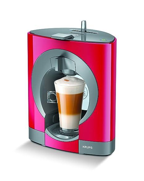 Krups Dolce Gusto Oblo KP1105 - Cafetera de cápsulas, 15 bares de presión, color rojo
