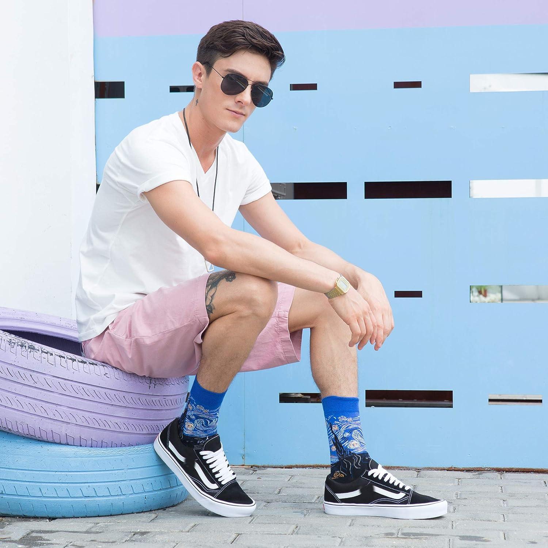 Calcetines para hombre multicolor estilo casual de algod/ón peinado WeciBor