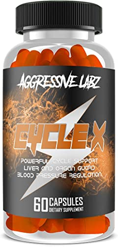 Aggressive Labz Cycle X - Premium Cycle Support Formula with TUDCA - 60 Capsules Liver Detox, Organ Defense, Milk Thistle, N-Acetyl-Cystine