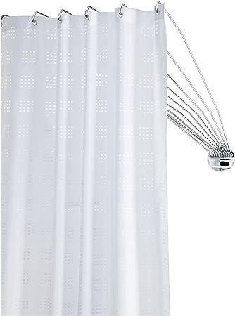 Sealskin Duschvorhangstange Umbrella - die flexible Duschfaltkabine,  Duschspinne, ideal für kleine Bäder und Badewannen, Metall, Farbe: Chrom,  80 x ...