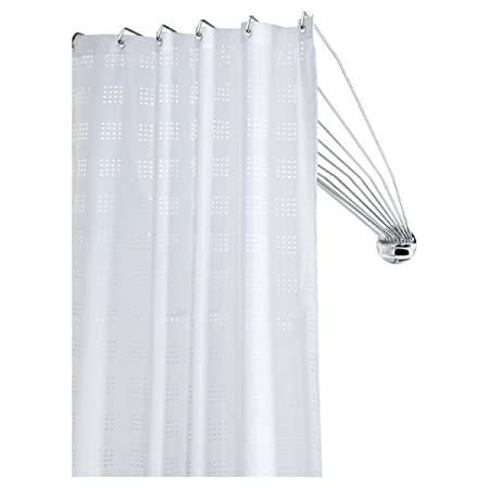 Sealskin 272226304 Shower Spider Umbrella The Flexible Curtain Rod Metal Chrome 80