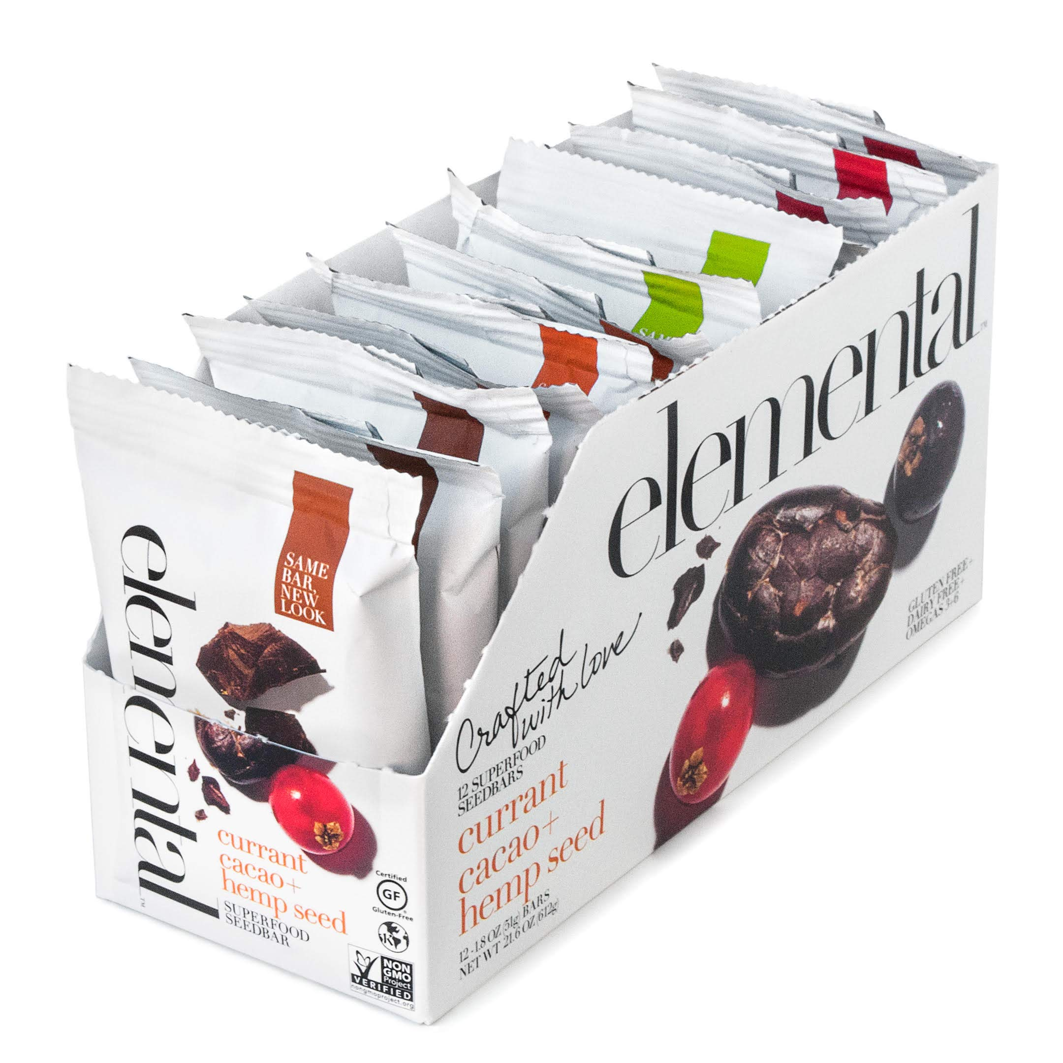 Variety Pack! 12 Seedbars by Elemental Superfood | Refrigerated Bar | Organic Ingredients, Plant Based, Gluten-Free, Non-GMO Verified, Kosher, Dairy-Free