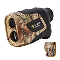 TIDEWE Hunting Rangefinder with Rechargeable Battery, 700/1000Y Realtree Xtra Camo Laser Range Finder 6X Magnification, Distance/Angle/Speed/Scan Multi Functional Waterproof Rangefinder with Case