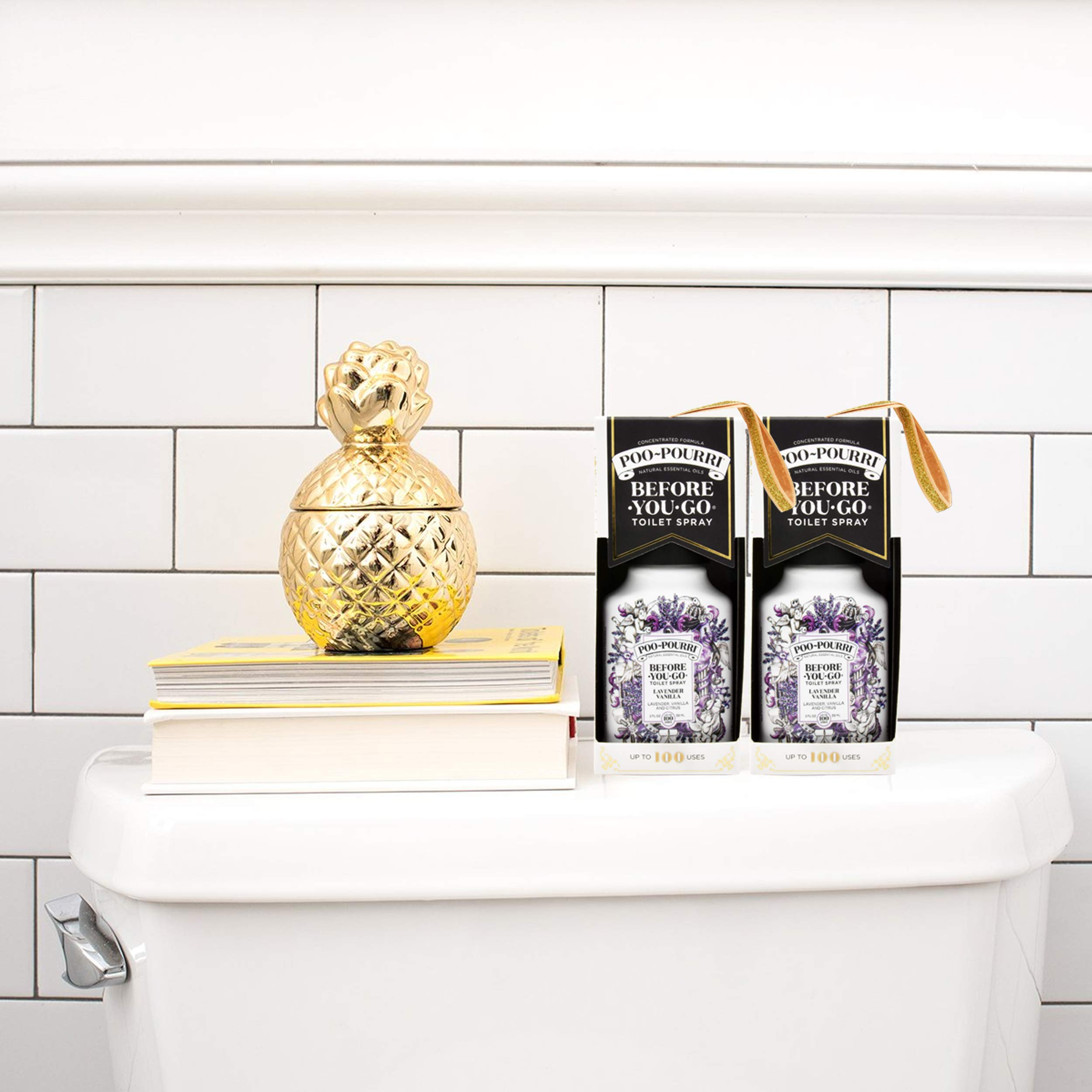 Poo-Pourri Before-You-Go Bathroom Spray, Lavender Vanilla - 2 Ounce, 2 Pack with Ornament Box   by Poo-Pourri (Image #4)