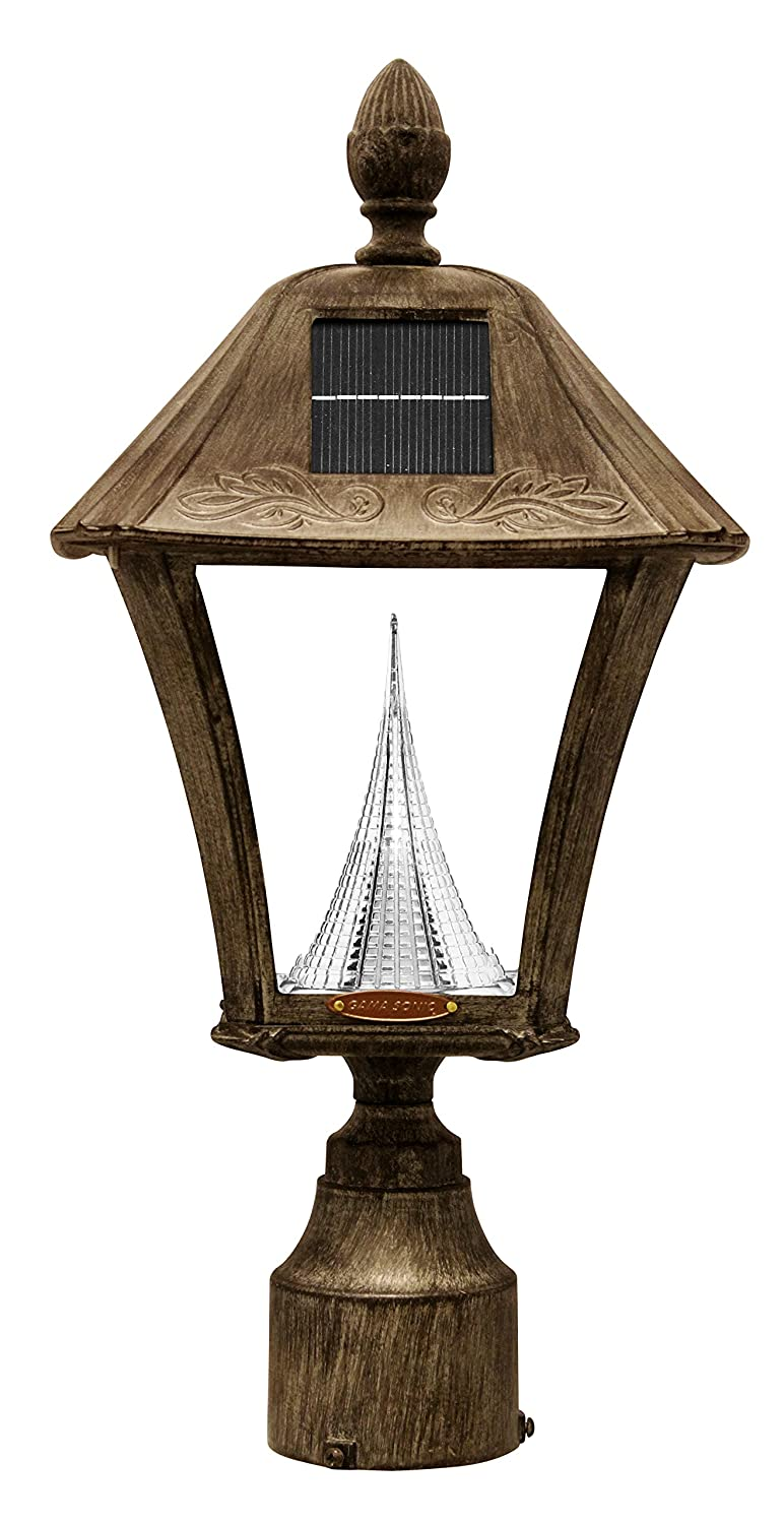 Amazon gama sonic baytown solar outdoor led light fixture amazon gama sonic baytown solar outdoor led light fixture polepostwall mount kit weathered bronze finish gs 106fpw wb garden outdoor arubaitofo Image collections