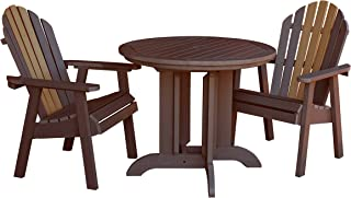 product image for Highwood AD-DNA36-TOB Hamilton Round Dining Set (3 Piece), Tobacco Road