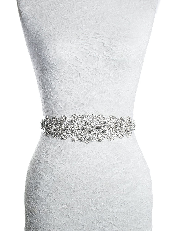 Redowa Rhinestone wedding dress applique patch for bridal sash belt ...