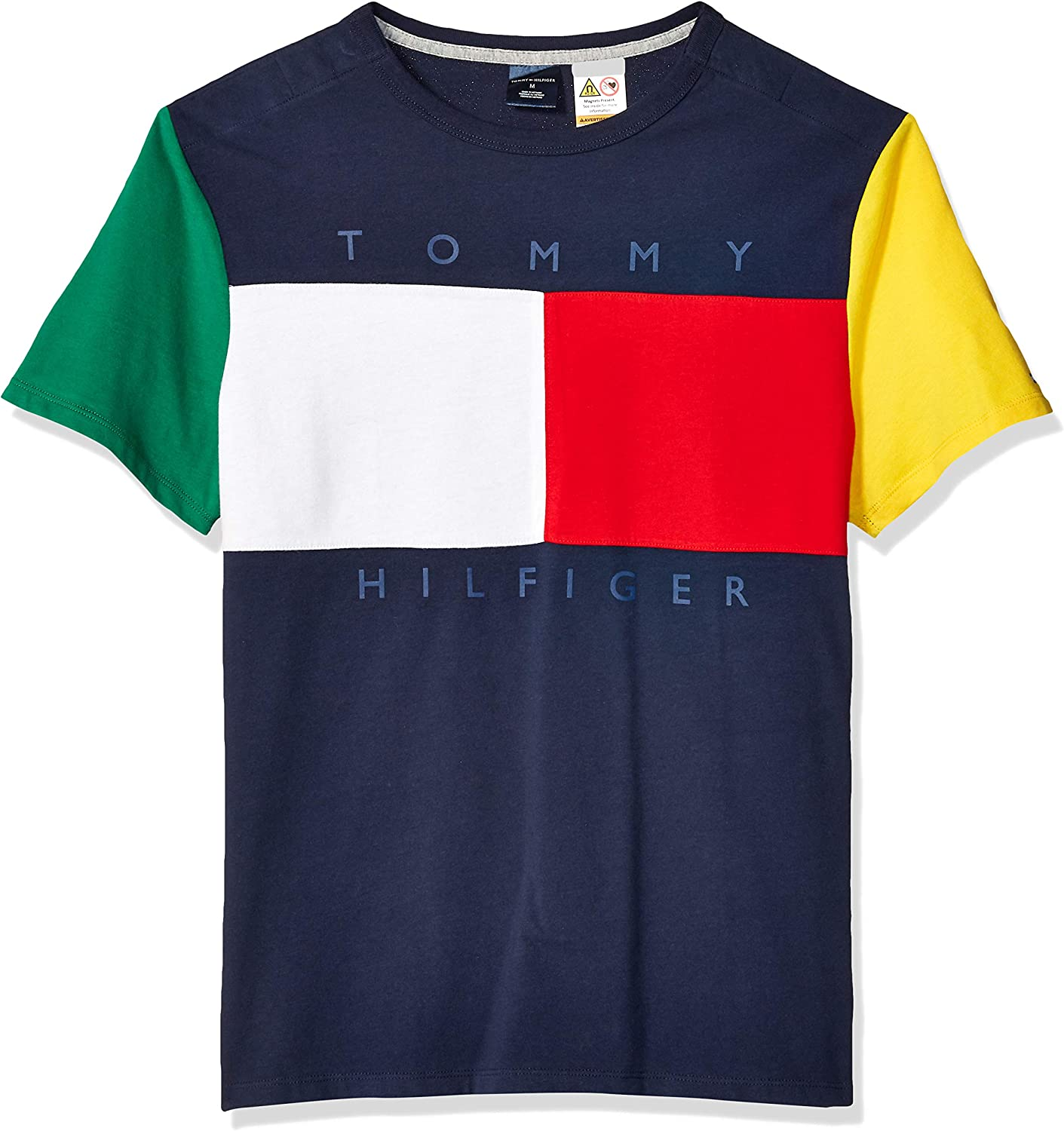 Tommy Hilfiger Mens Adaptive T Shirt with Magnetic Buttons at Shoulders
