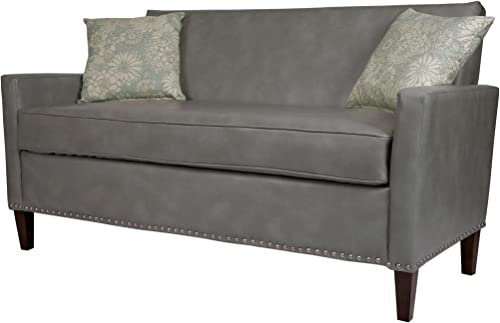 angelo:HOME Sutton Sofa Renu Leather Vintage Dove Gray