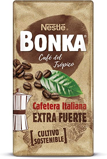 Bonka Cafetera Italiana Café Tostado Molido - 250 g: Amazon.es ...