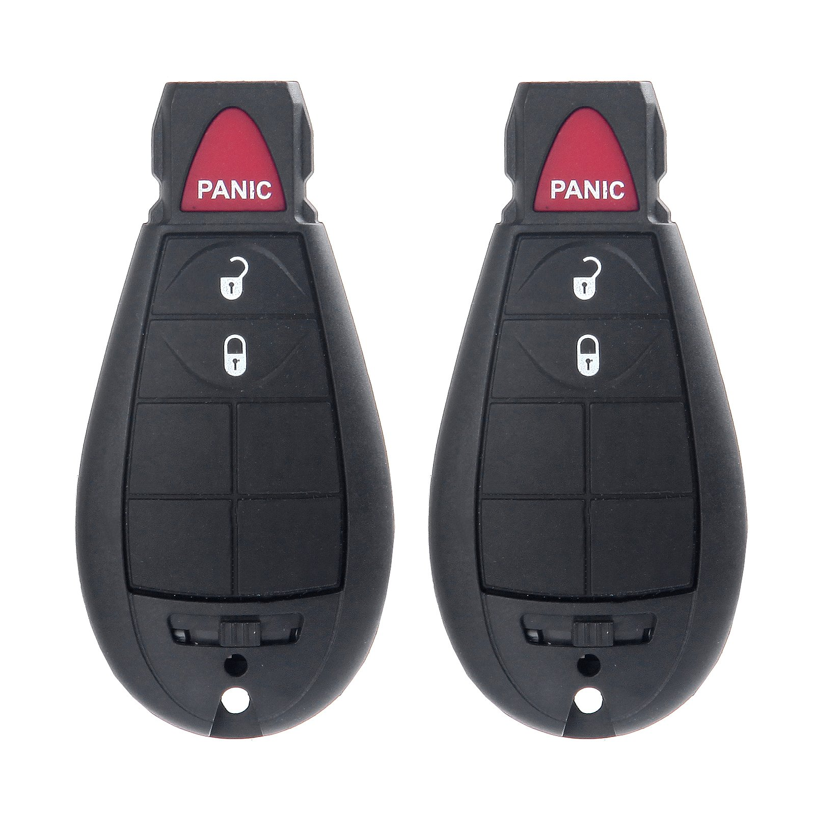 ECCPP Replacement fit for 2X 3 Button Uncut Keyless Entry Remote Key Fob Chrysler Dodge Volkswagen Series M3N5WY783X 433MHz