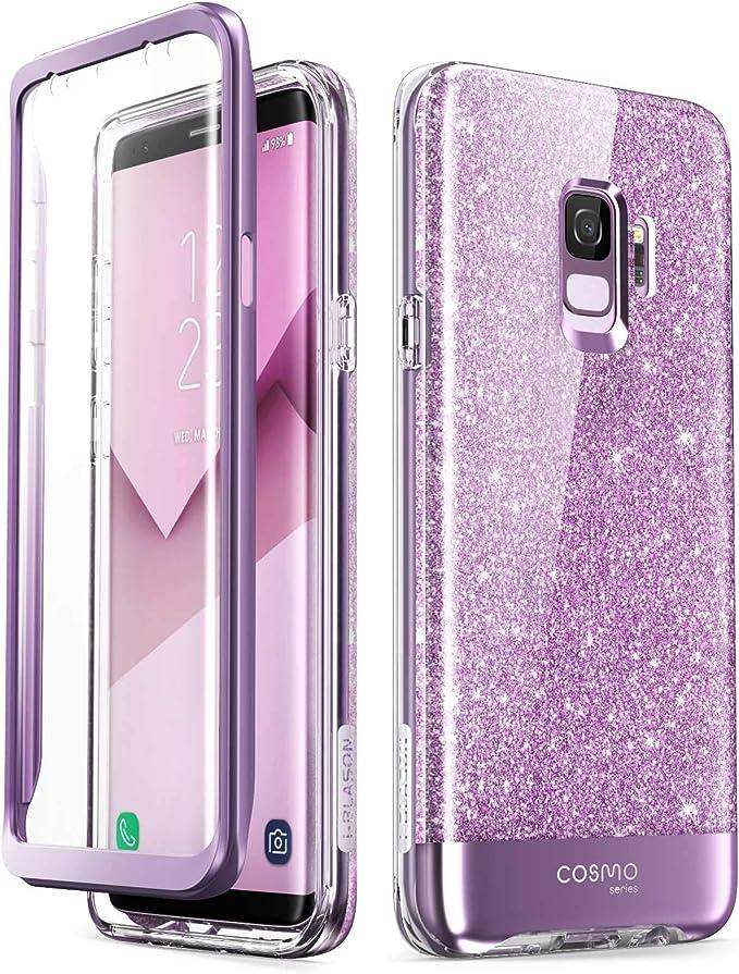 i-Blason Cosmo Coque de protection intégrale pour Galaxy S9 avec film protecteur d'écran intégré Violet