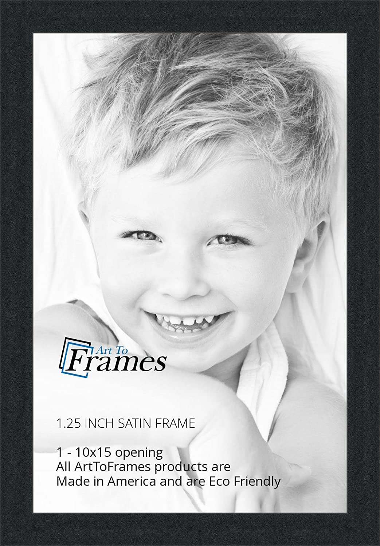 Amazon.com - ArtToFrames 10x15 inch Satin Black Picture Frame ...
