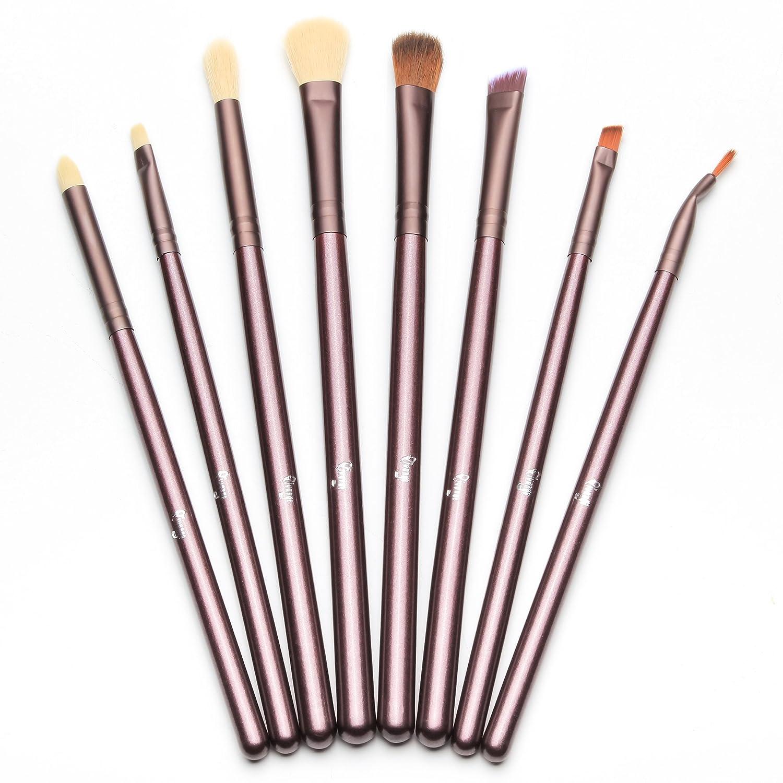 Qivange Augenpinsel Set Makeup Bürsten set mit Beutel(12pcs Rose Gold)