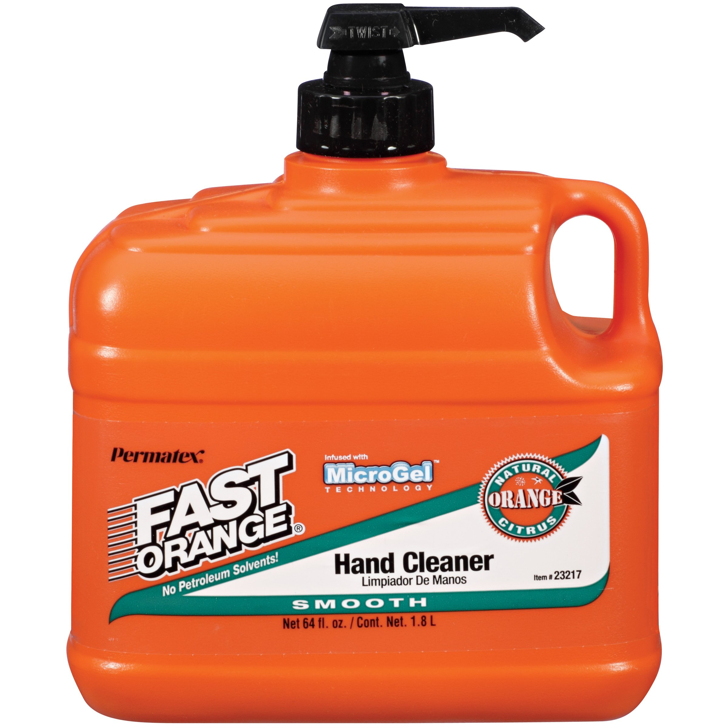 Permatex 23217-6PK Fast Orange Smooth Lotion Hand Cleaner with Pump - 1/2 Gallon, (Pack of 6) by Permatex (Image #1)