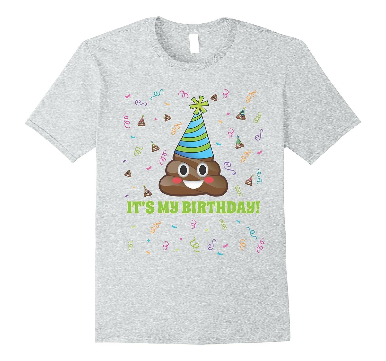 Poop Emoji Art Birthday Party Hat T Shirt Poo Gift Tees