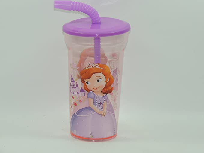Disney Store Sofia The First Tumbler with Straw Cup