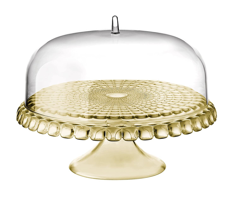 Amazon.com | Guzzini Tiffany Collection Raised Cake Stand with Dome ...