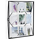 Umbra, Black Prisma Gallery Frame – Floating Wall or Desk Photo Display for Pictures, Art, Illustrations, Graphic Text & More, Metal