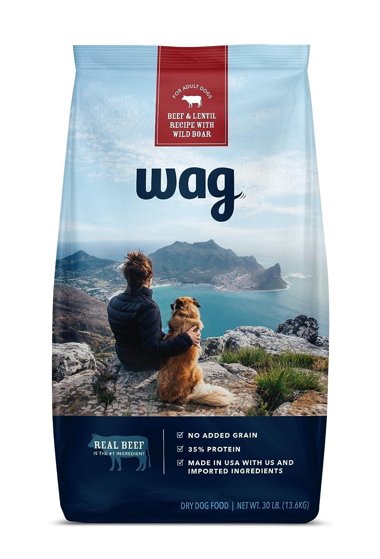 Amazon.com : WAG Dry Dog Food, No Added Grain, Beef & Lentil Recipe ...