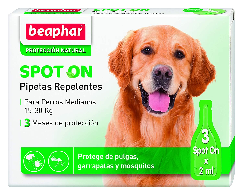 Beaphar pipetas repelentes, Perro Mediano, 3 Unidades: Amazon.es: Productos para mascotas