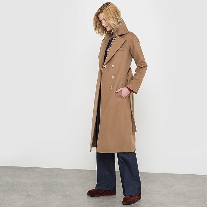 La Redoute - Abrigo - para Mujer marrón Claro 44 (DE)-46 (